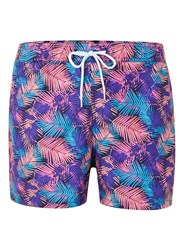 Topman Pink Palm Print Swim Shorts