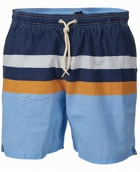 Barbour Men's Colorblocked Swim Trunks Blue