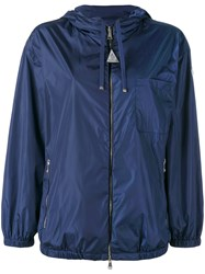 Moncler Hooded Sports Jacket Women Polyamide Polyester 3 Blue