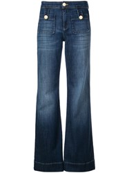 L'autre Chose High Waist Flared Jeans Blue