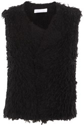 Iro Bellay Fringed Cotton Blend Cardigan Black