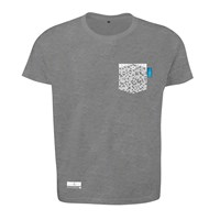 Anchor And Crew Athletic Grey Digit Print Organic Cotton T Shirt