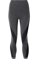 Lndr Launch Cropped Paneled Stretch Leggings Dark Gray