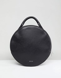 Matt And Nat Kiara Round Backpack With Tote Handle Black