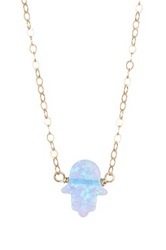 Bb Collection Hamsa Necklace Blue