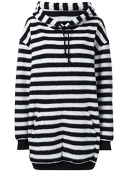 A.F.Vandevorst Oversized Striped Hoodie Black