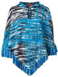 Missoni Fringed Poncho Blue