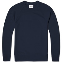 Norse Projects Vorm Brushed Crew Sweat Dark Navy