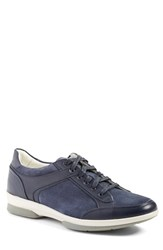 Aquatalia By Marvin K Men's Aquatalia 'Wayne' Weatherproof Sneaker Navy Leather