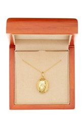 Argentovivo 18K Gold Plated Sterling Silver Fawna Front Locket Necklace Metallic