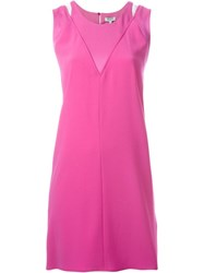 Kenzo Cut Out Dress Pink And Purple
