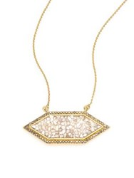 Shana Gulati Charushila Shashi Black Diamond Pendant Necklace