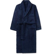 Anderson And Sheppard Cotton Terry Robe Navy