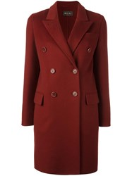 Loro Piana Double Breasted Coat Red