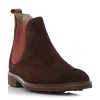 Oliver Sweeney Burrows Rubber Toe Suede Chelea Boots Brown