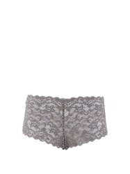 Hanro Moments Floral Lace Briefs Grey