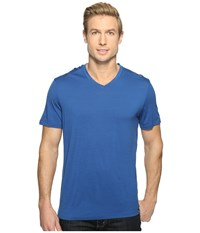 Smartwool Merino 150 Pattern V Neck Dark Blue Men's T Shirt