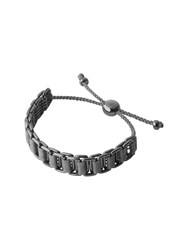 Links Of London Friendship Mens Grey Cord Bracelet Silver