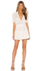Misa Los Angeles Giedra Dress In White. Ivory And Gold
