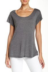 Haute Hippie Zipper Back Tee Gray