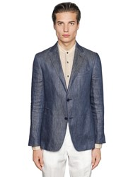 Z Zegna Double Face Linen Denim Effect Jacket