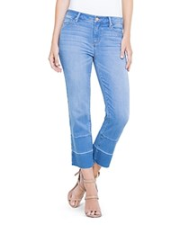 Liverpool Carter Crop Straight Jeans In Hearst