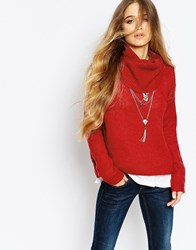Blend She Dazzle Pullover In Red Red