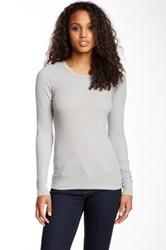 Alternative Apparel Long Sleeve Crew Neck Thermal Shirt Gray