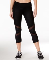 Ideology Embossed Cropped Leggings Only At Macy's Embossed Dot