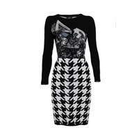 Ekaterina Kukhareva Graphic Dress Black White