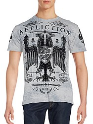 Affliction Pure Cotton Tee Gravel Grey