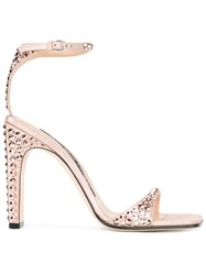 Sergio Rossi Studded Sandals Pink Purple