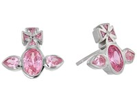 Vivienne Westwood Carmella Earrings Pink Cubic Zirconia Earring