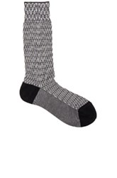 Haider Ackermann Chevron Jacquard Socks In Black Abstract