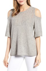 Velvet By Graham And Spencer Women's Cashmere Cold Shoulder Sweater