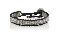M Cohen M. Men's Beaded Cord Bracelet Black