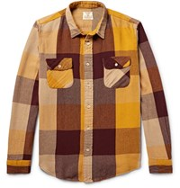 Levi's Vintage Clothing Shorthorn Checked Cotton Flannel Shirt Yellow