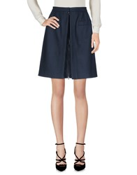 Alaia Knee Length Skirts Dark Blue