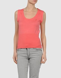 Compagnia Italiana Knitwear Sleeveless Jumpers Women Coral