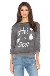 Wildfox Couture He's A Doll Tee Charcoal