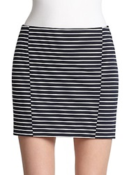 Thakoon Stripe Mini Skirt Blue White