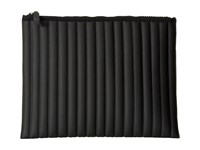 No Ka' Oi Striped Gummed Pouch Black Clutch Handbags