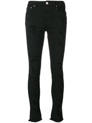 Don't Cry Ripped Skinny Jeans Black