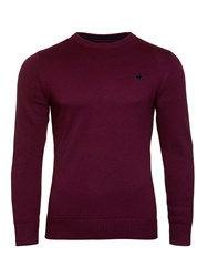 Raging Bull Men's Cotton Cashmere Crew Neck Red