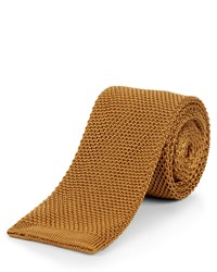 Jaeger Textured Repp Stripe Tie Gold Silverlic