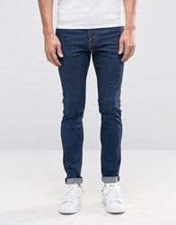 Weekday Form Super Skinny Jeans Sun Sun Mid Blue 79 101