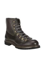 Rag And Bone Leather Ankle Boots Dark Brown