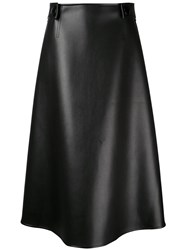 Marni High Waisted Midi Skirt Women Polyurethane Viscose 40 Black