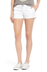 Junior Women's Volcom 'Frochickie 2.5' Chino Shorts White