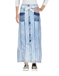 Each X Other Denim Skirts Blue